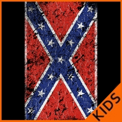 Distressed Confederate Flag Kids T-shirt