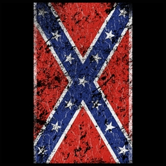 Distressed Confederate Flag Mens T-shirt
