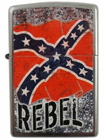 Distressed Confederate Flag Rebel Zippo Lighter