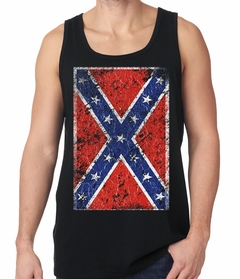 Distressed Confederate Flag Tank Top