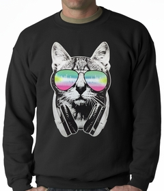 DJ Cat Adult Crewneck