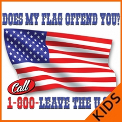 Does My Flag Offend You? Kids T-shirt
