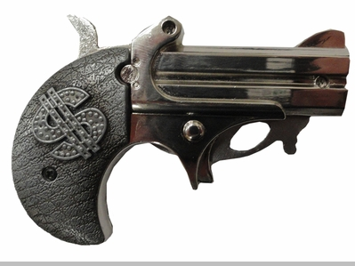 Dollar Sign Gun Belt Buckle with Lighter and Knife With FREE Leather Belt<!-- Click to Enlarge-->