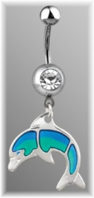 Dolphin Dangle Navel Jewelry