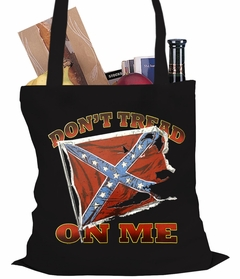 Don't Tread On Me Confederate Flag Tote Bag