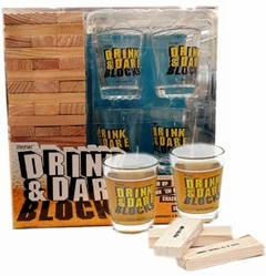 Drink & Dare Block Tower - Tipping Tower Drinking Game