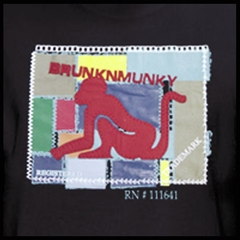 DrunknMunky Stitched Puzzle Box T-Shirt (Black)