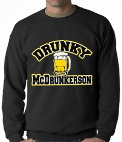 Drunky McDrunkerson Funny Adult Crewneck