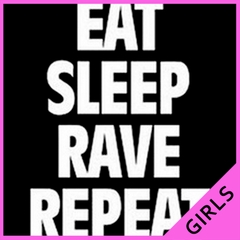 Eat Sleep Rave Repeat Girl's T-Shirt