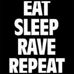 Eat Sleep Rave Repeat Men's T-Shirt