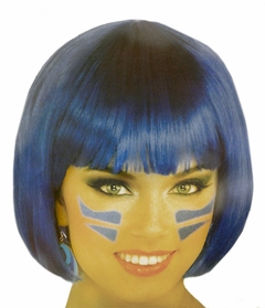 Electric Blue Colored Wig - Blue Wigs