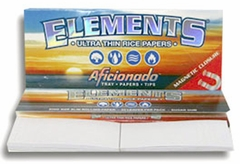 Elements Aficionado 1 1/4 Inch Rolling Papers - Tray, Papers and Tips Included!