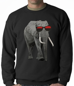 Elephant Wearing Sunglasses Adult Crewneck