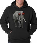 Elephant Wearing Sunglasses Adult Hoodie