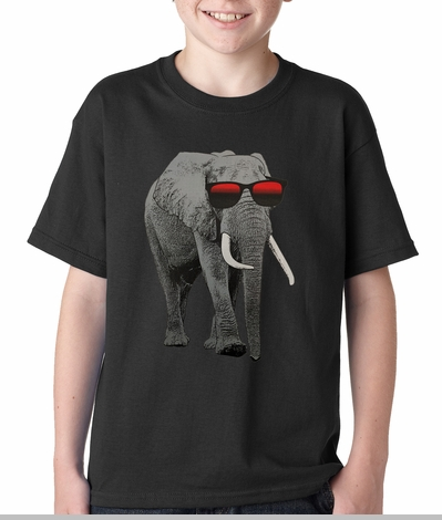 Elephant Wearing Sunglasses Kids T-shirt<!-- Click to Enlarge-->