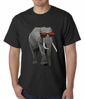 Elephant Wearing Sunglasses Mens T-shirt
