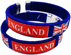 England International Flag Cuff Bracelet