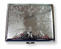 Etched Cigarette Case (For Regular Sized & 100's)