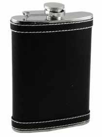 Executive Leather Hip Flask with Accent Stitching