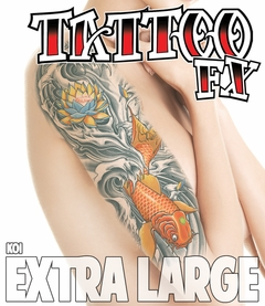 Extra Large Temporary Tattoo - Koi (Arm - Half Sleeve)