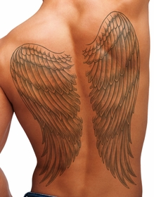 Temporary Tattoo (full back) - Wings