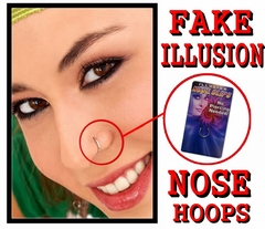 Fake Illusion Clip on Nose Ring