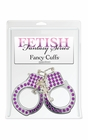 Fetish Fantasy Fancy Cuffs With Purple Rhinestones
