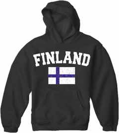 Finland Vintage Flag International Hoodie