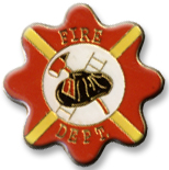 Fire Dept Round Lapel Pin