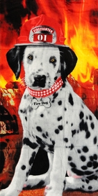 "Fire Dog Dalmatian Beach and Bath Towel (30"" x 60"")"