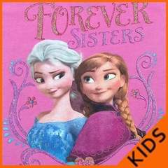 Forever Sisters Disney Frozen Kid's T-Shirt (Hot Pink)