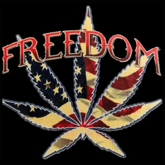 Freedom Pot Leaf Men's T-Shirt