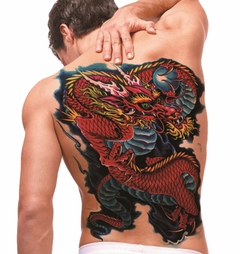 Temporary Tattoo (full back) - Dragon