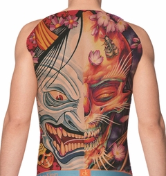 Temporary Tattoo (full back) - Skull and Goblin