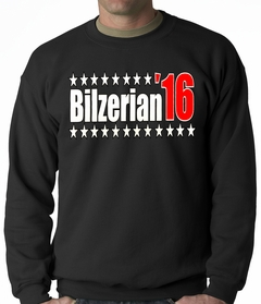 Full Color Bilzerian '16 - Vote For Bilzerian For President in 2016 Adult Crewneck