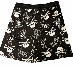 Fun Boxers - Black And White Skulls Men's Boxer Shorts
