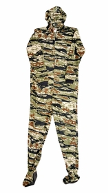 Fun Footies - Tiger Camo Unisex Adult Feety Pajamas
