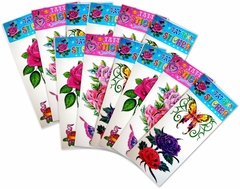 Fun Tattoo Sticker 12 pack (Contains Over 30 Tattoos!)