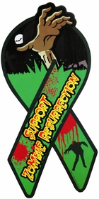 Funny & Novelty Magnets - Support Zombie Resurrection Car Ribbon Magnet