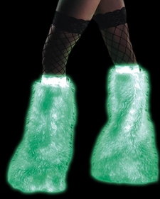 Furry Glow in the Dark Leg Warmers