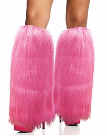 Furry Pink Leg Warmers