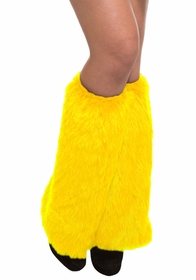 Furry Yellow Leg Warmers