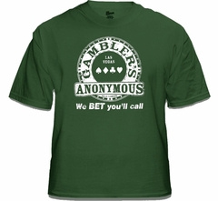 """Gambler's Anonymous """"We Bet You'll Call"""" Vintage T-Shirt"""