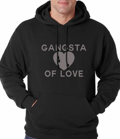 Gangsta Of Love Heart Teardrop Adult Hoodie