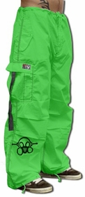 Ghast  Cargo Drawstring Pants (Lime / Black)