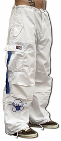 Ghast Cargo Drawstring Pants (White/Blue)