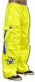 Ghast  Cargo Drawstring Pants (Yellow / Royal)