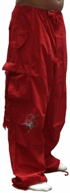 Ghast Cargo Drawstring Raver Pants (Red)
