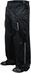Ghast God Father Pinstripe Chain Raver Pants