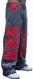 Ghast Hi-Tech Contrast Pant (Charcoal/Red)